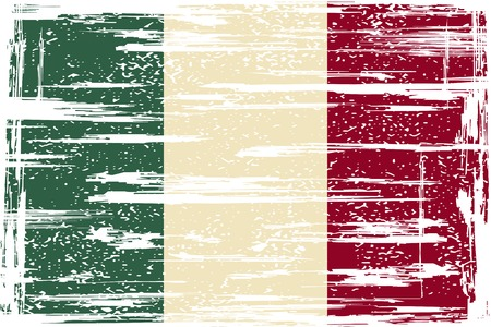 cleaned: Italian grunge flag. Grunge effect can be cleaned easily. illustration.