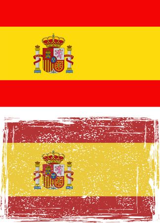 Spanish grunge flag. Vector illustration. Vector