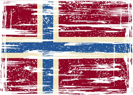 Norwegian grunge flag. Vector illustration. Grunge effect can be cleaned easily Illustration