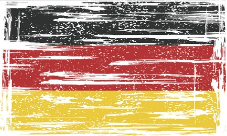 cleaned: Germany grunge flag. Vector illustration. Grunge effect can be cleaned easily.