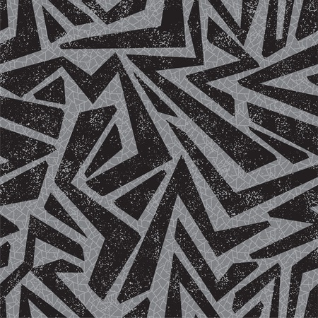Absract graffiti seamless pattern. Vector illustration. Grunge effect can be cleaned easily.