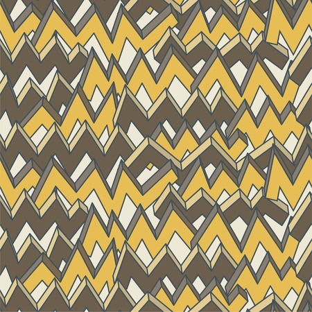 Multicolor zigzag line seamless pattern. Vector illustration. Vector