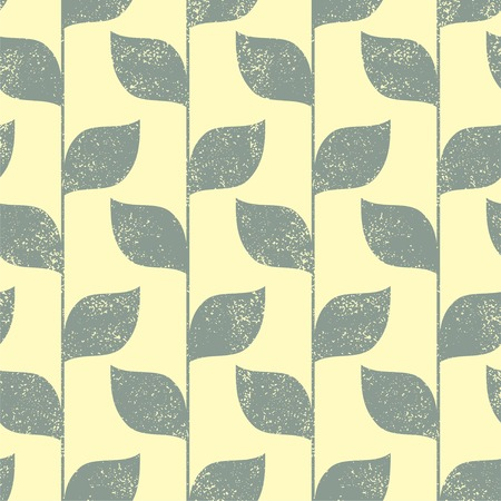 grunge pattern: Seamless green leaves grunge pattern. Vector illustration Illustration
