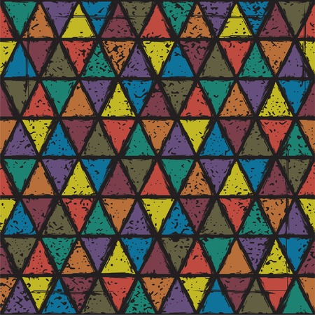 grunge pattern: Seamless triangle grunge pattern background. Vector illustration. Illustration