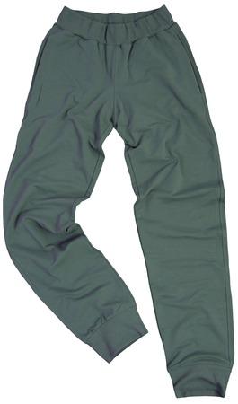 khaki pants: Sports sweatpants isolated on a white background