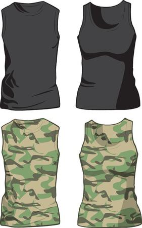 Camisas Negras y militares vista frontal ilustración del modelo