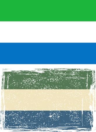 Sierra Leone grunge flag illustration  Grunge effect can be cleaned easily  Vector