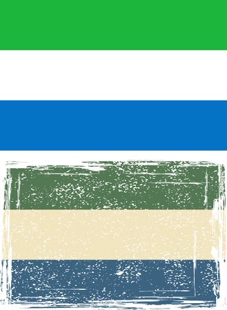sierra: Sierra Leone grunge flag illustration  Grunge effect can be cleaned easily