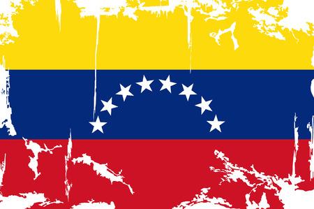 venezuelan: Grunge bandera Ilustraci�n vectorial Grunge efecto venezolana se puede limpiar f�cilmente Vectores