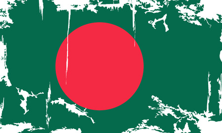 Bangladesh grunge flag. Vector illustration. Grunge effect can be cleaned easily. Vector