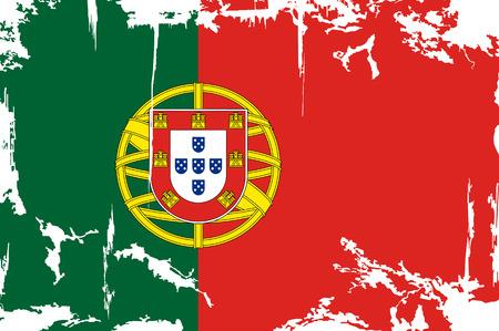 bandera de portugal: Bandera del grunge portugués. Ilustración del vector. Efecto de grunge puede limpiarse fácilmente. Vectores