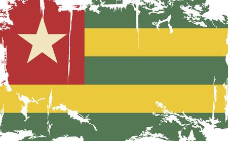 togo: Togo grunge flag. Vector illustration. Grunge effect can be cleaned easily.