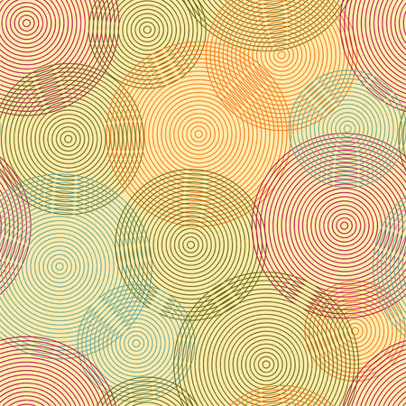 Abstract seamless background made of set of rings. Vector illustration.