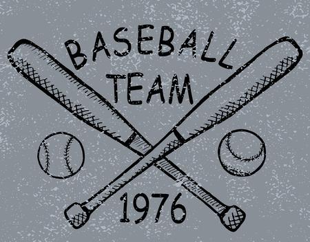 Grunge baseball design t-shirt Printing  Vector Vector