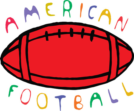 afc: Color american football design with text.  Vector illustration.