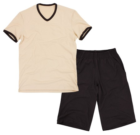duffle: Soccer sportswear shorts and sweet shirt  Isolated