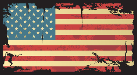 american history: American grunge flag  Vector illustration