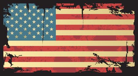 American grunge flag  Vector illustration