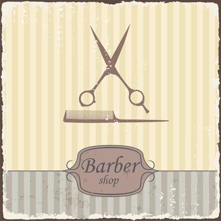 Barber shop vintage retro typography  Vector Vector