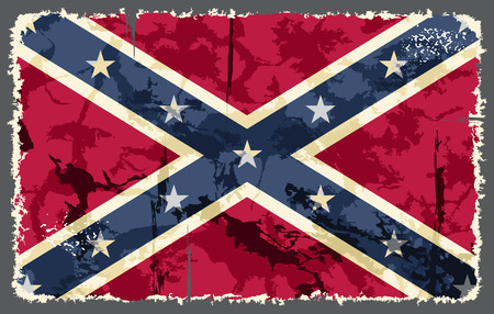 confederation: Confederate grunge flag  Vector illustration Illustration