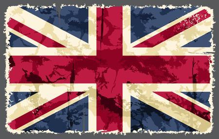 english textures: British grunge flag  Vector illustration