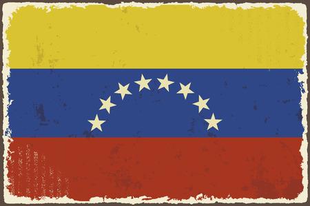 venezuelan: Venezuelan grunge flag. Vector illustration. Grunge effect can be cleaned easily. Illustration