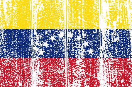 venezuelan: Grunge bandera venezolana. Ilustraci�n del vector. Efecto de grunge puede limpiarse f�cilmente.
