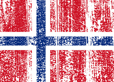 Norwegian grunge flag. Vector illustration. Grunge effect can be cleaned easily. Vector