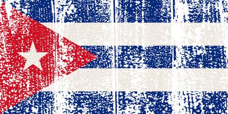 cubana: Grunge bandera cubana. Ilustraci�n del vector. Efecto de grunge puede limpiarse f�cilmente.