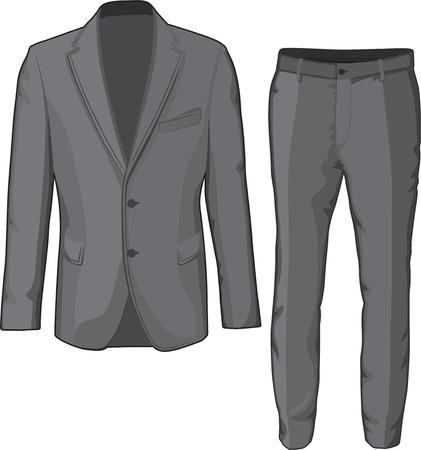 Hombre chaqueta ropa y pantalones Vector