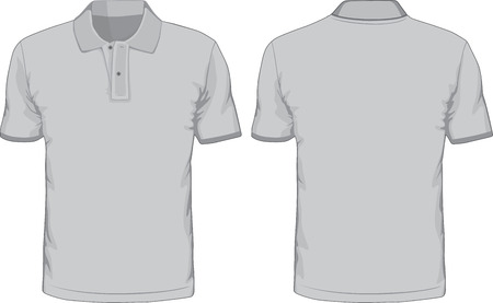 Men s polo-shirts template  Front and back views Vector