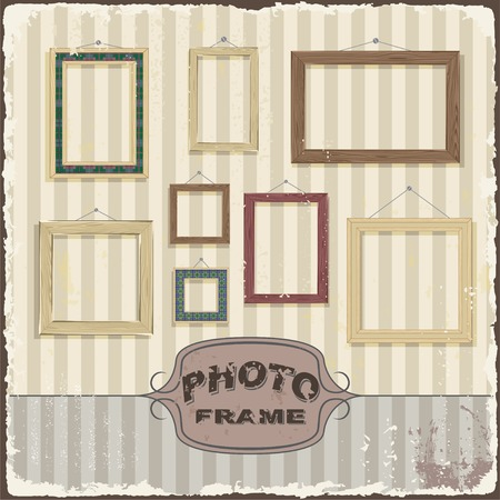 Vintage Photo frame template  Vector illustration Vector