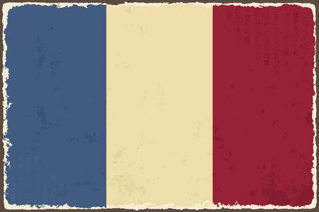french flag: French grunge flag  Vector illustration Illustration