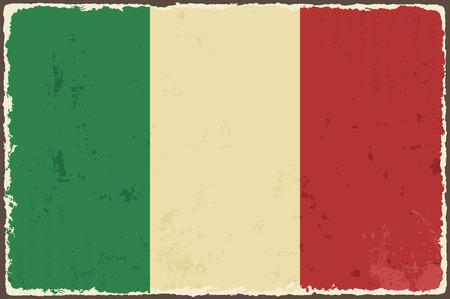 bandera italiana: Grunge bandera italiana ilustración vectorial Vectores