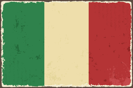 Italian grunge flag  Vector illustration Çizim