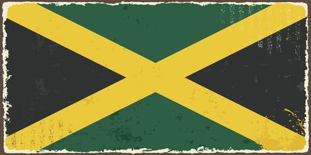 jamaican: Grunge ilustraci�n de la bandera de Jamaica Vector