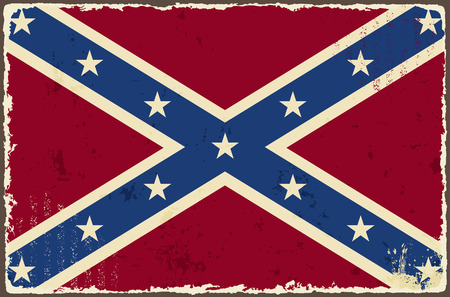 Confederate grunge flag  Vector illustration Vectores