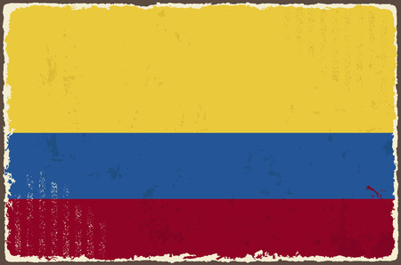 colombian: Colombian grunge flag  Vector illustration