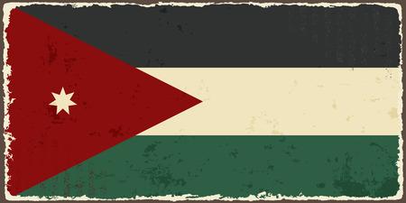 jordanian: Jordan grunge vlag Vector illustratie