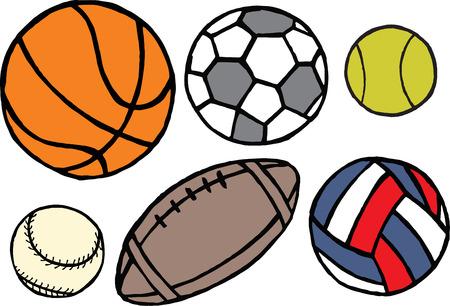 Set of different sport balls  Vector Vector