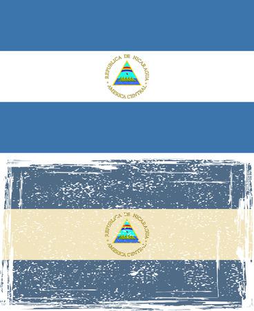 nicaraguan: Nicaraguan grunge flag.  Illustration