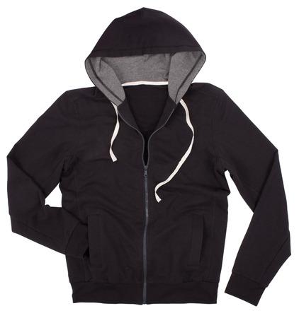 Hooded sweater isolated on white background photo