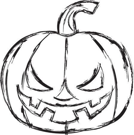 calabaza caricatura: Calabaza de la historieta de Halloween.