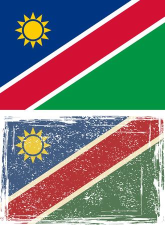 namibia: Namibia grunge flag.