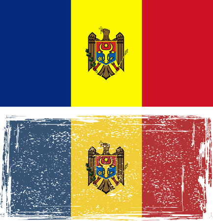 moldovan: Moldovan grunge flag. Vector illustration Illustration