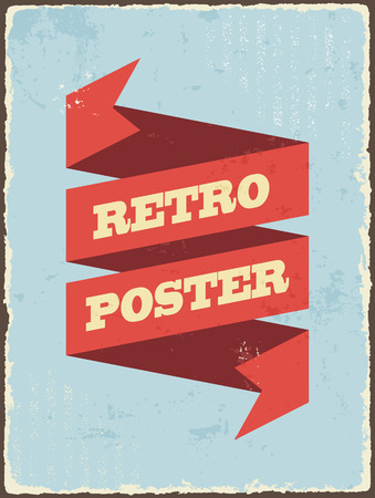 grunge banner: Vintage typography Background