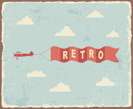 Vintage typography Background Vector