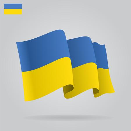 ukrainian flag: Flat and waving Ukrainian Flag.
