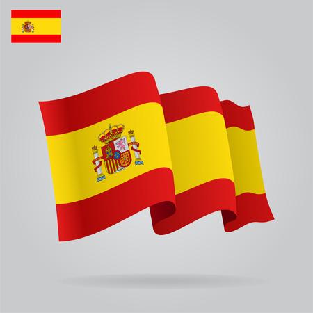 bandiera spagnola: Appartamenti e sventolando la bandiera spagnola.