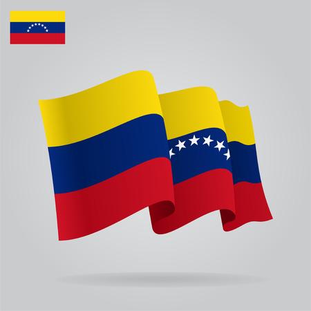 venezuelan: Flat and waving Venezuelan Flag.  Illustration